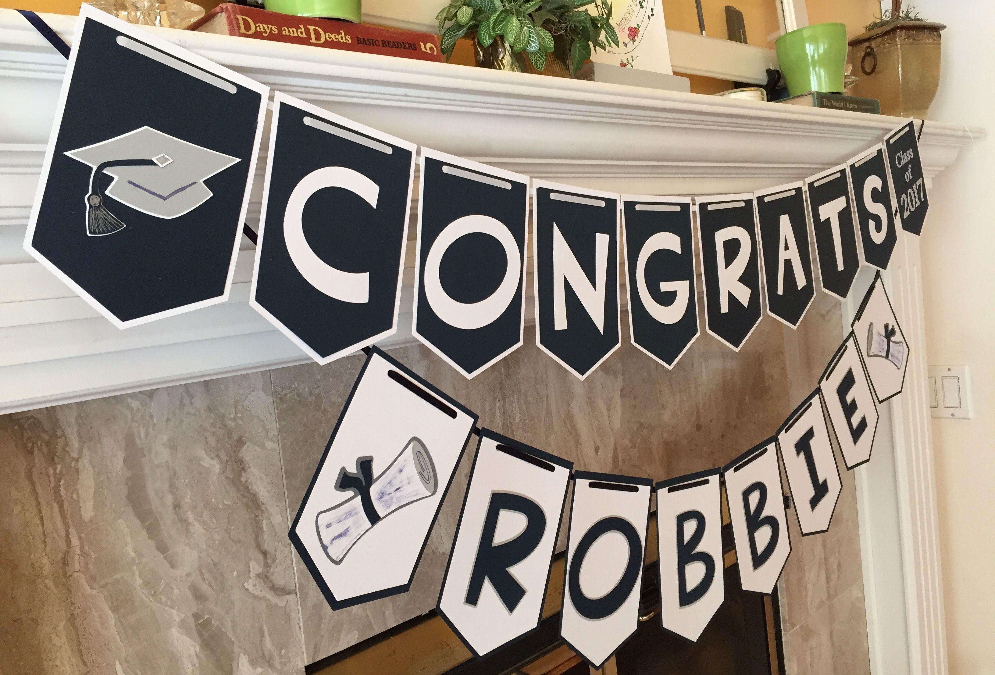 contrasting graduation banner | graduation ideas | pinterest