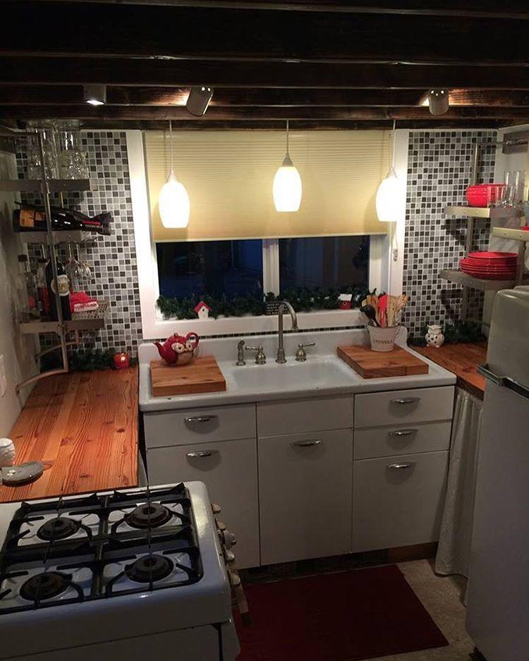 Spacious kitchen of the