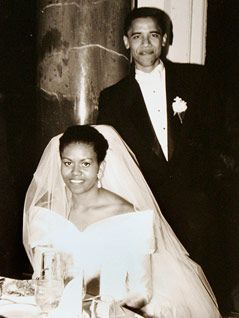 Photo of Barack and Michelle Obama 1992