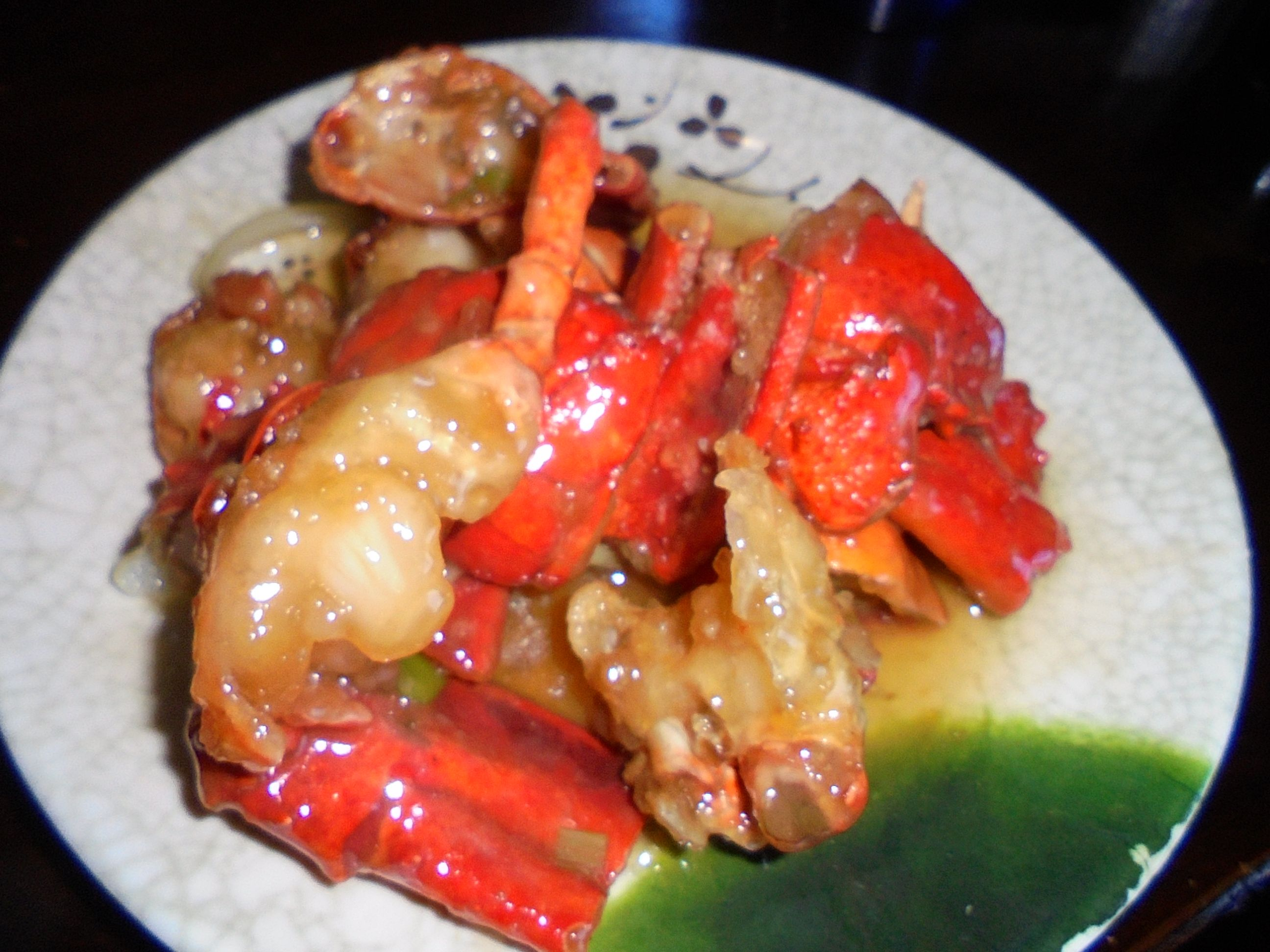 #Lobster #welldone #Hibachi #style #dressed in #delicious #GarlicButter #sauce
