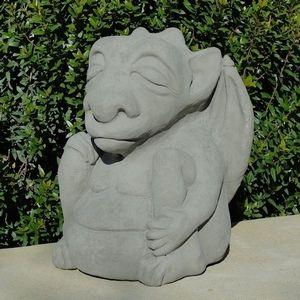 Concrete Meditating Gargoyle Garden Statue Garden 400 x 300