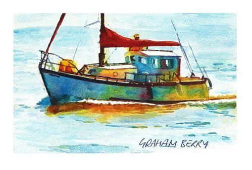 "Daily Paintworks - ""Leaving port."" - Original Fine Art for Sale - © Graham Berry"