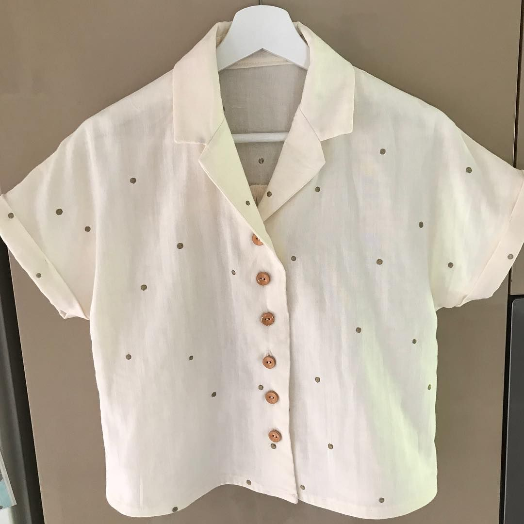 9ed4e7bb690735 New Sew Over It Libby Shirt. Made with Atelier Brunette double gauze ...