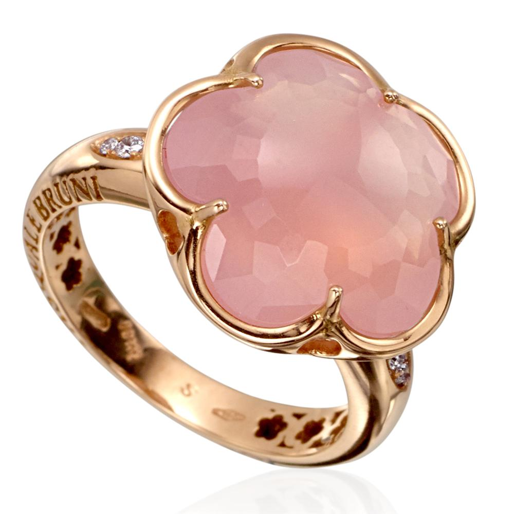 Pasquale Bruni Bon Ton Milky Rose Quartz & Diamond Ring | PINK IS ...
