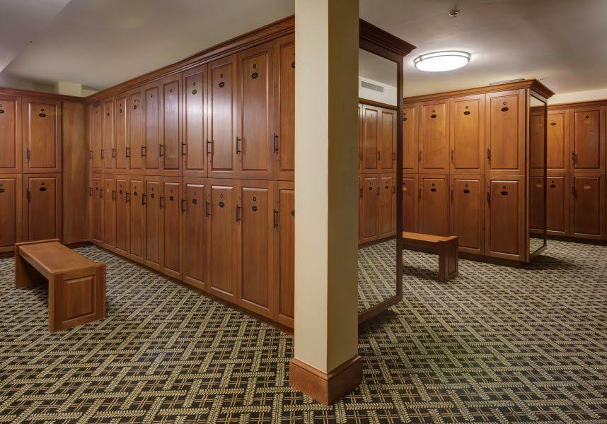 Llanerch Country Club Locker Room Locker Room Wooden Lockers Design