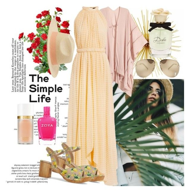 """""""The Simple Life"""" by raincheck ❤ liked on Polyvore featuring Saloni, MANGO, Yves Saint Laurent, Topshop, Tom Ford and Dolce&Gabbana"""