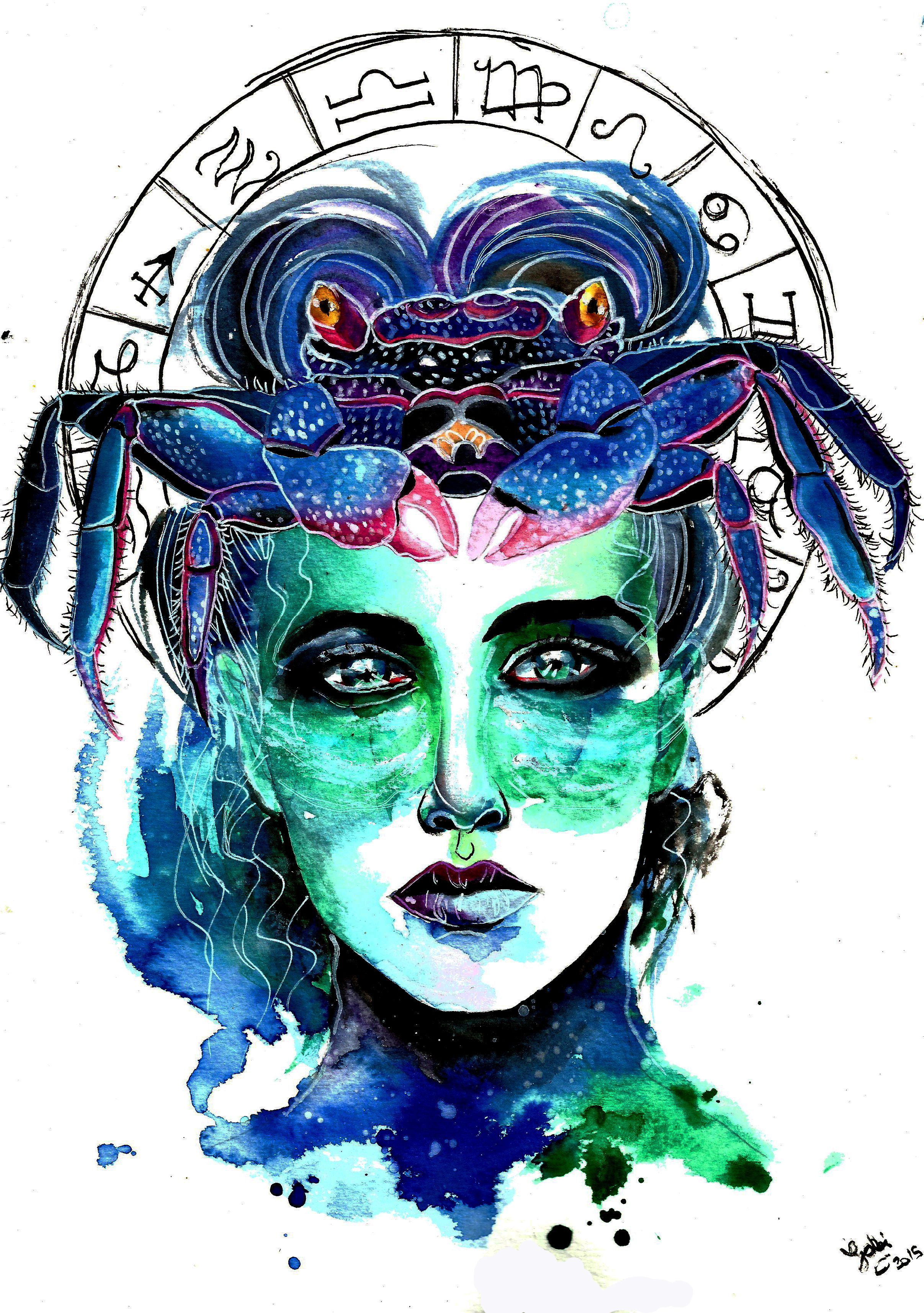 Zodiac Sign Cancer.Art by Gabi Xavier | Cancer Inspiration ...