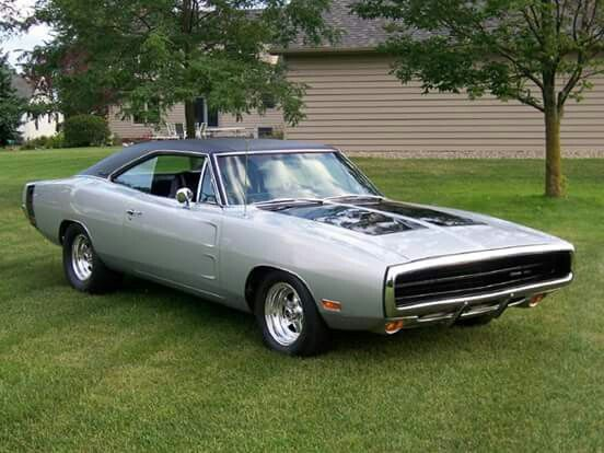 1970 Dodge Charger R T In Silver With Black Vinyl Roof Dodge Charger Mopar Dodge Muscle Cars