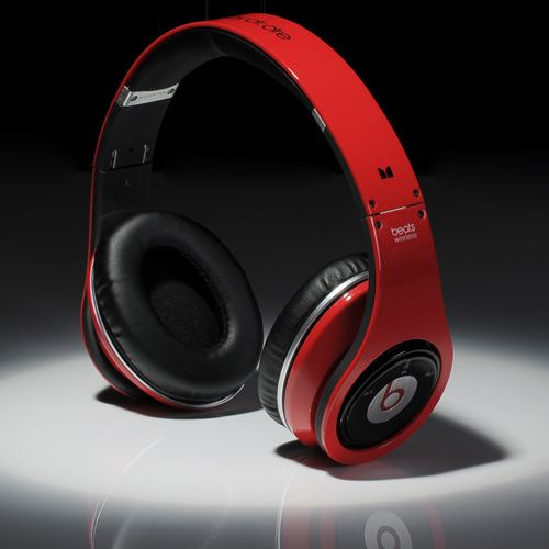 Beats By Dre Wireless High Defintion Stereo Bletooth Headphones Red Black 161 80