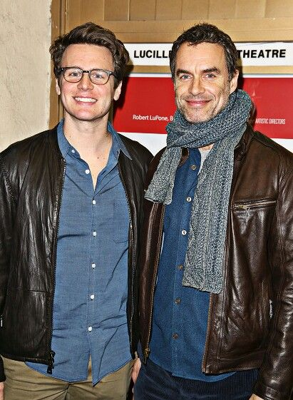 Jonathan Groff and Murray Bartlett, opening night of Smokefall 22 Feb 2016