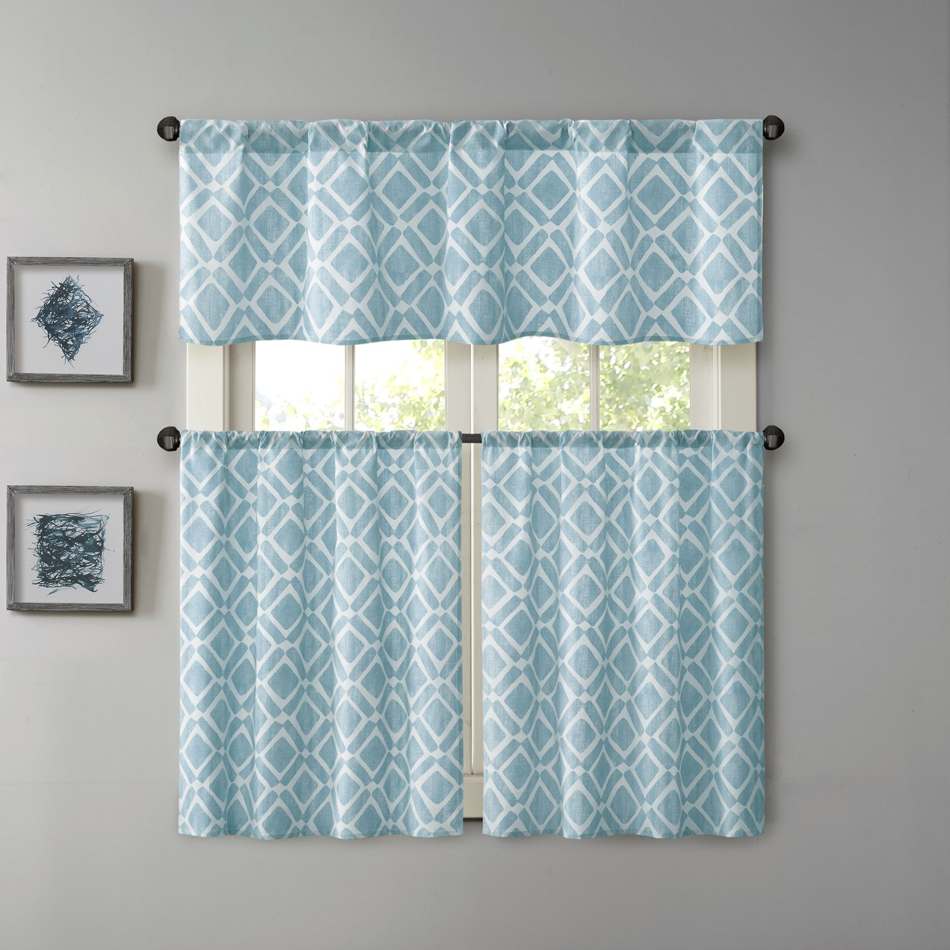 Print Curtain Valance | Products | Pinterest | Valance, Tier ...