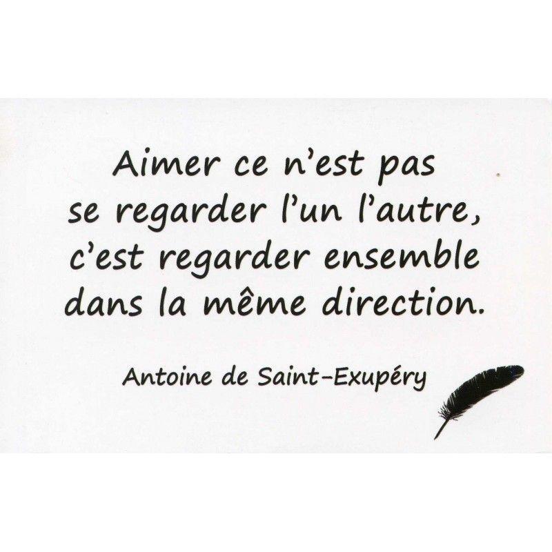 Carte Postale Citation Dantoine De Saint Exupéry