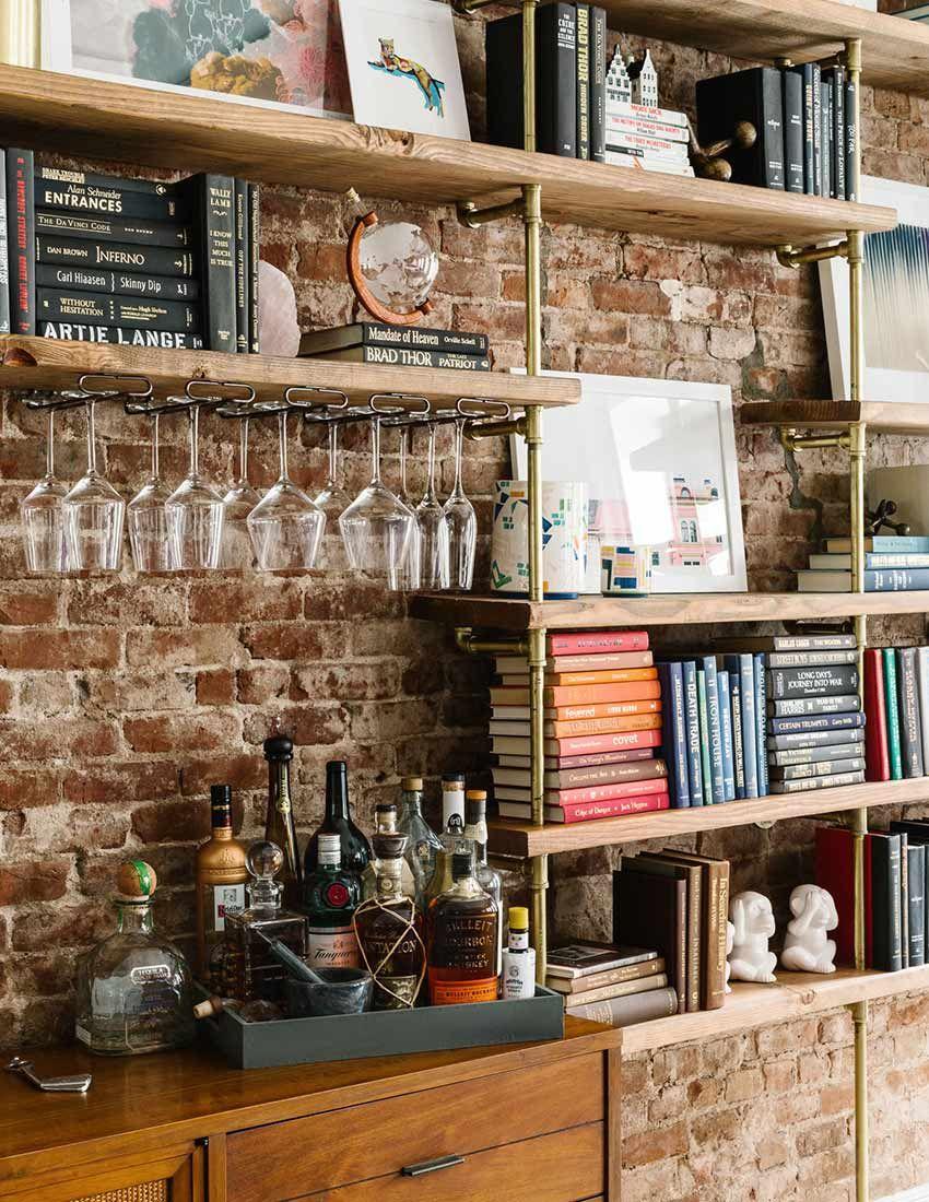 Bookshelf And Mini Bar Bar None Wohnzimmer Bar Kuche Wohnzimmer