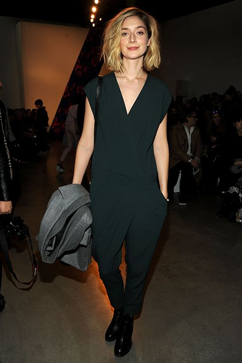 Thakoon - Front Row - Mercedes-Benz Fashion Week Fall 2014 Caitlin FitzGerald