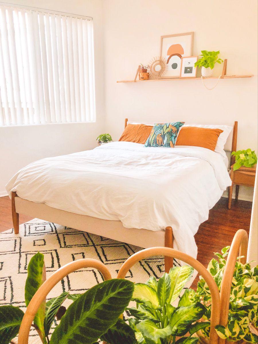 #boho #bohobedroom #bohodecor #jungletheme #aesthetic #plants #earthyhomedecor