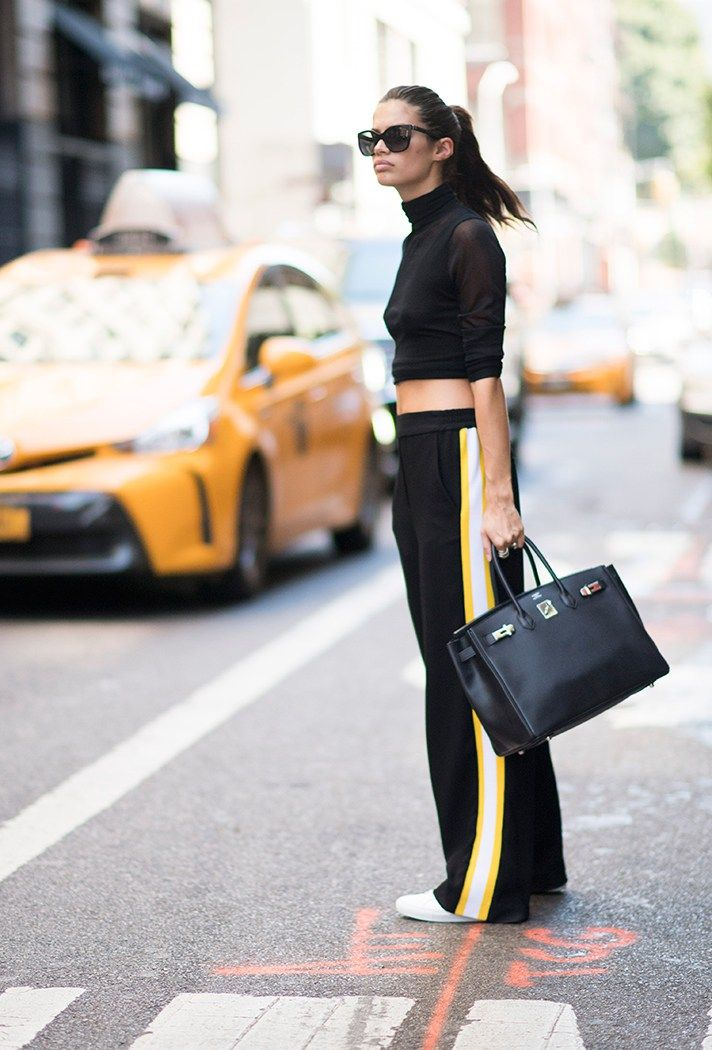 not the lips. the adidas style with yellow. and the small boobs New York Fashion Week Street Style Spring 2017: The Best Moments from NYFW   StyleCaster