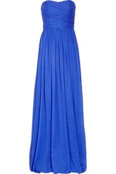 Strapless silk-chiffon gown. Soooo cute!!