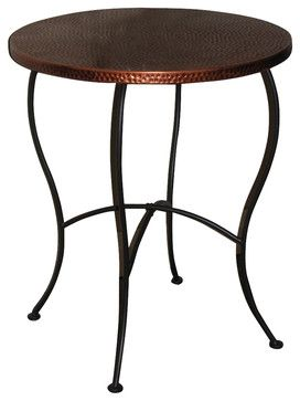 4D Concepts Hammered Metal Round Table in Metal traditional-side-tables-and-accent-tables