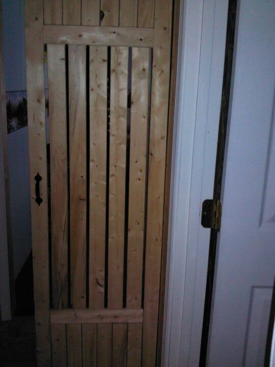 Made a door out of furring strips 2 hide that ugly furnace. U can get a bundle of them @ Lowes 4 bout $6.00. : furnace door - pezcame.com