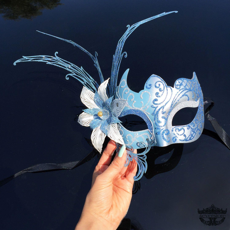 Light Blue Masquerade Masks Related Keywords & Suggestions - Light ...