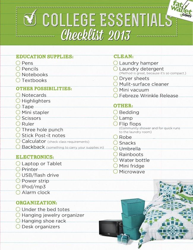 Keep Calm and College On: Back to School Checklist for College