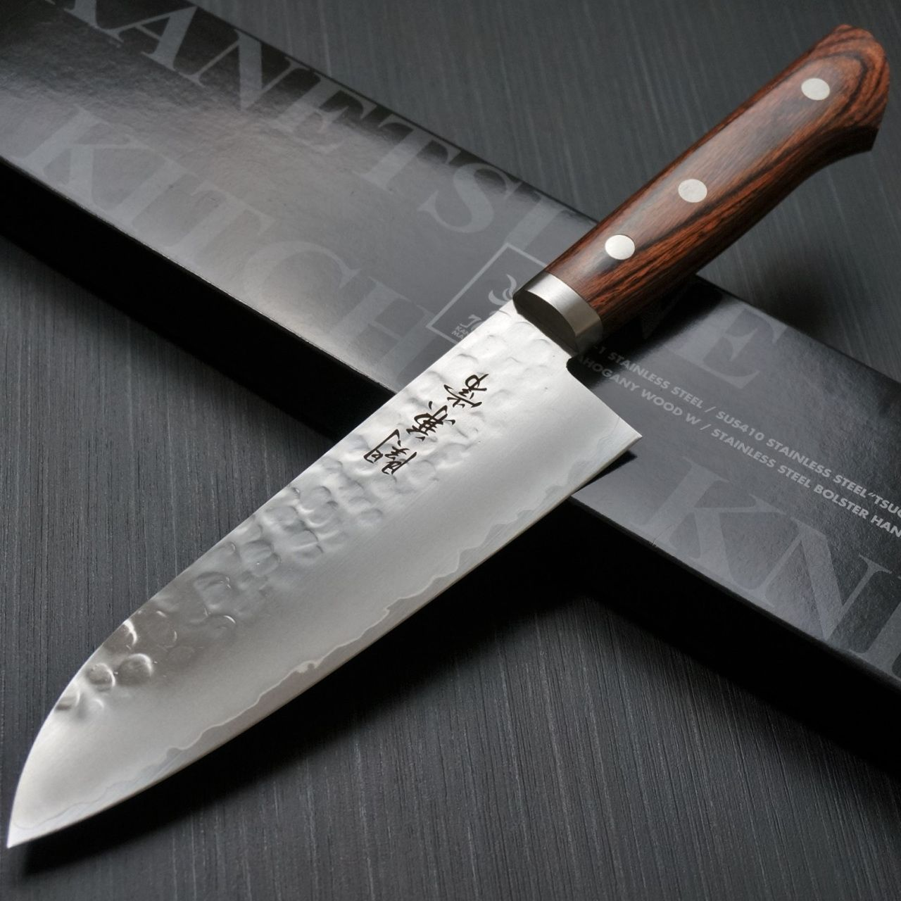Best Damascus Kitchen Knives Safe Shoes Kanetsune Japanese Chef Including Santoku Gyuto Sashimi