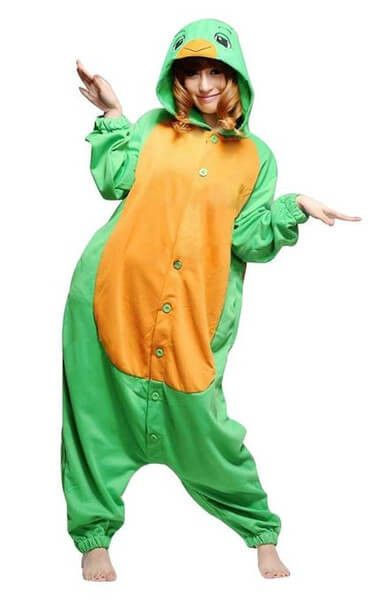 Turtle Adult Pajamas Halloween Costume Animal One Piece Cosplay Hoodie For Women