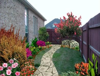 narrow side yard landscaping ideas michael tanner landscape designs project gallery jackie. Black Bedroom Furniture Sets. Home Design Ideas