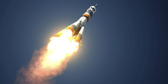 Image result for rocket going into space