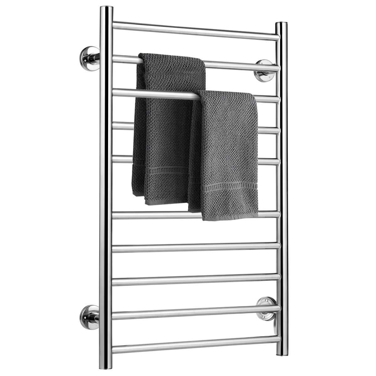 Buy Tangkula Towel Warmer Home Bathroom 10 Bar Stainless Steel Space Saving Plug In Wall Mounted Cloth Towel Heated Drying Rack 20 W X 31 5 H At Diane Beauty Supply For Only 287 98