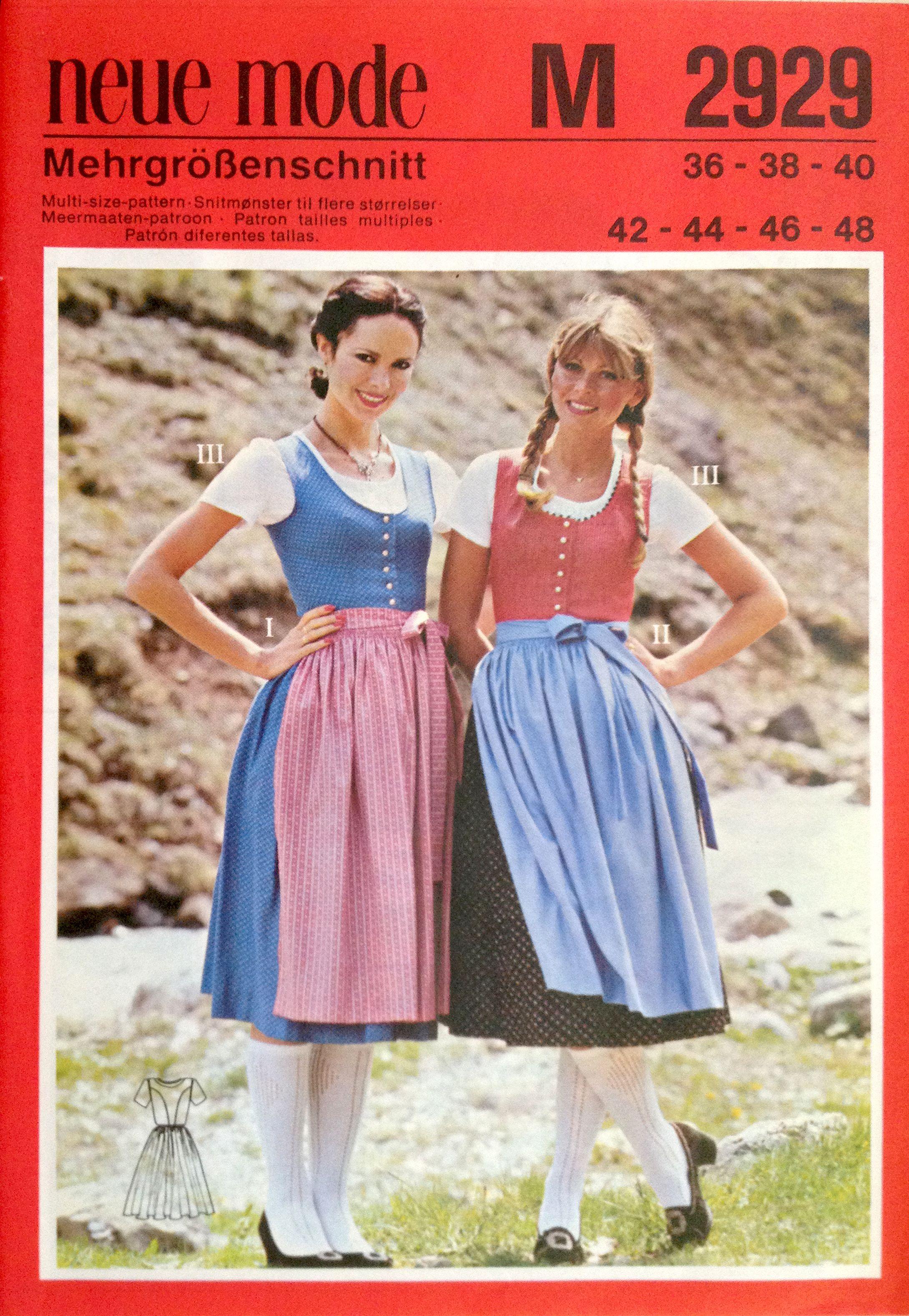 Neue Mode M 2929 | Dirndl Stoffe & Schnittmuster | Pinterest ...