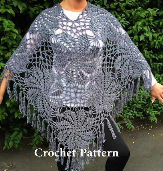 Summer Poncho Crochet Pattern Kleding Haken Summer Tops Haken