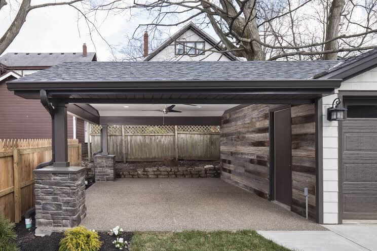 Covered Outdoor Area Attached To The Garage Outdoor Design Covered Outdoor Area Outdoor