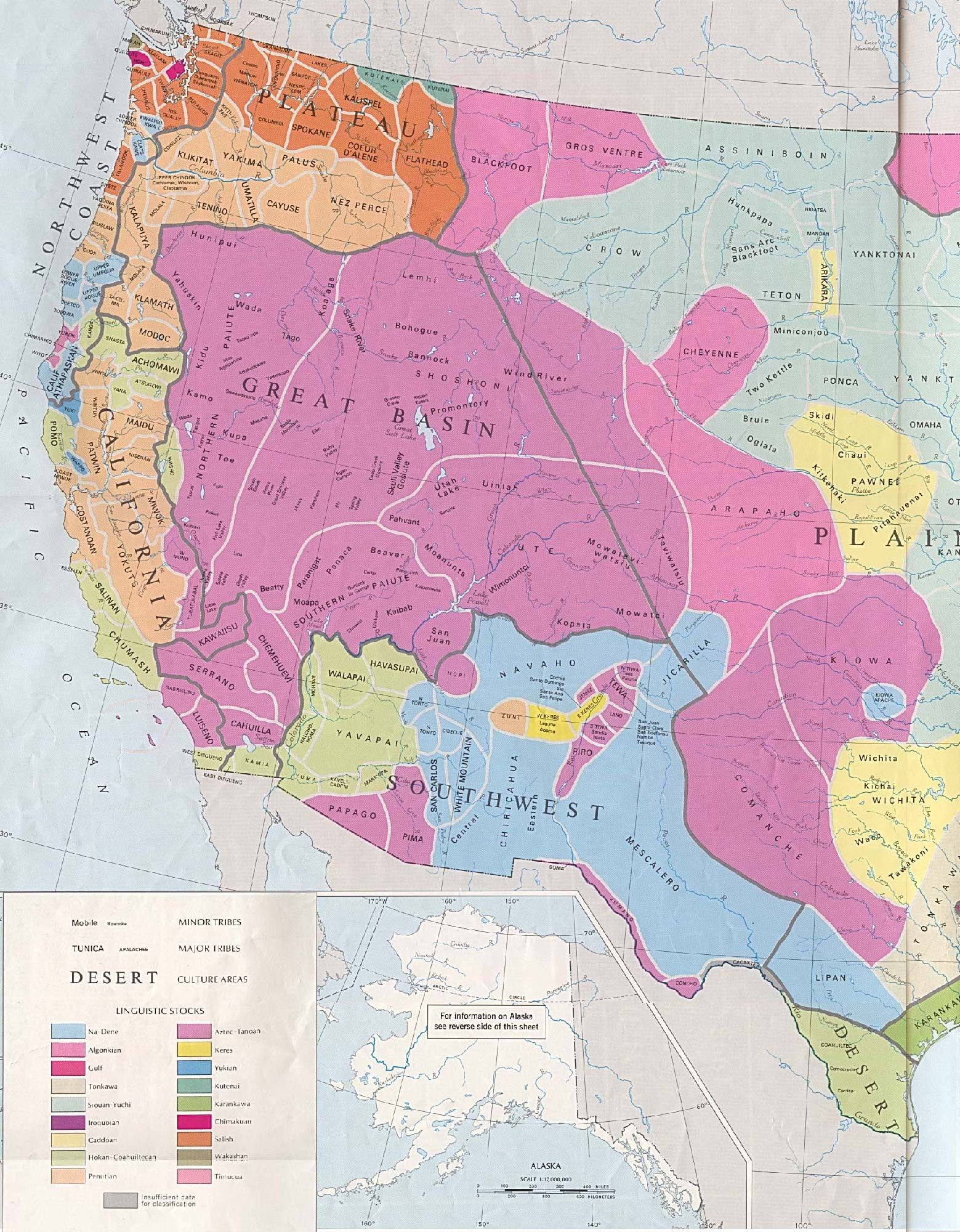 Early Western Indians Tribes And Cultures Of The Western US - Map of the western us states