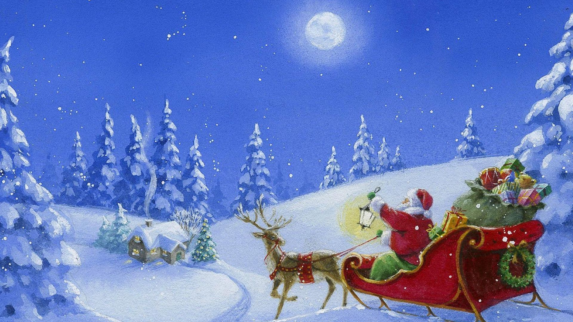 Wallpaper En Haute Definition 048 Sur Noel Pere Noel Au