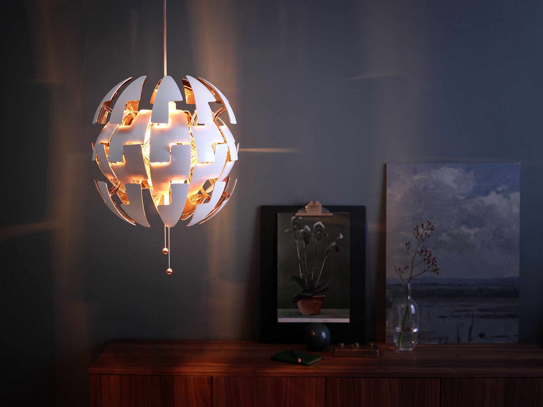 IKEA PS 2014 Hanglamp, wit, koperkleur | Ikea ps 2014, Ikea ps and ...