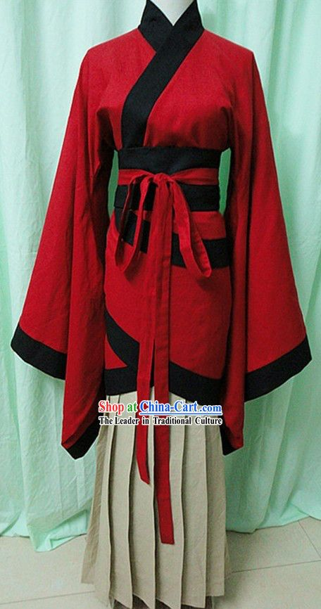 8192092d9 Traditional Chinese Red Hanfu Clothing for Women | Fashion history ...