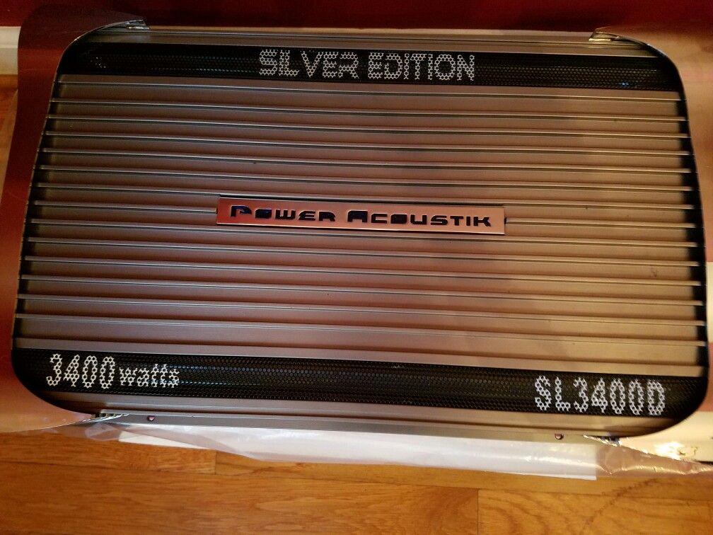 Sl3400d Power Acoustik Silver Edition 3400 Watts Car Audio