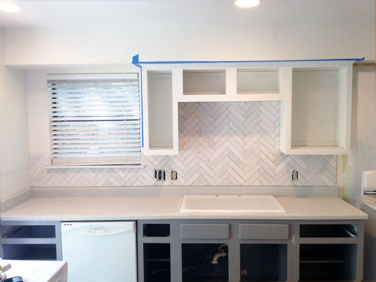 Marble Herringbone Tile Backsplash Google Search Interior