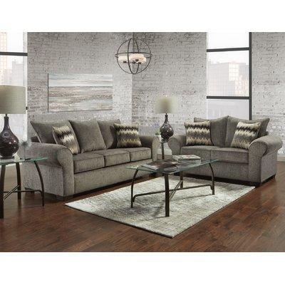 Red Barrel Studio Zhenya 2 Piece Living Room Set Sofa Loveseat