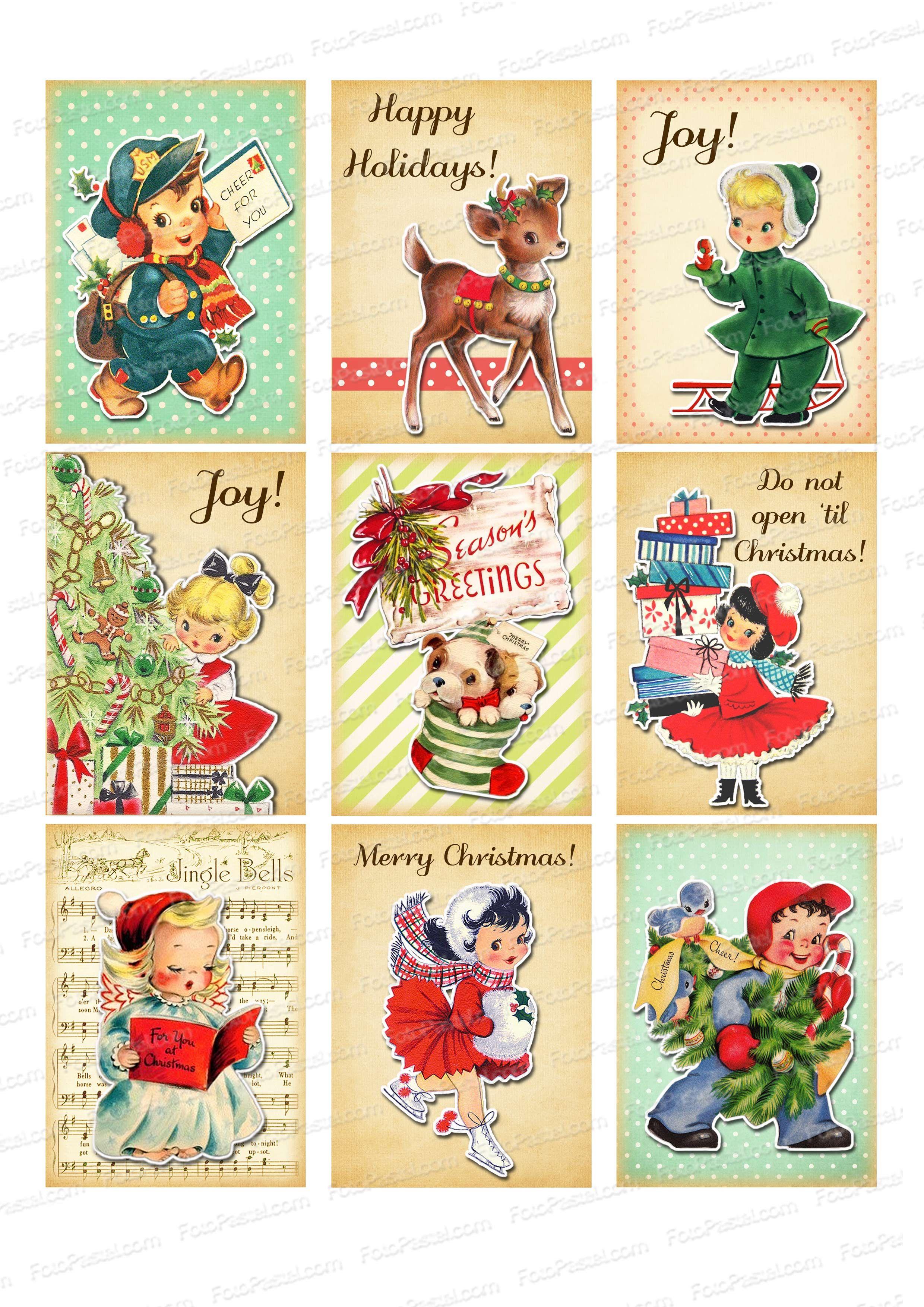 Luxe Image Vintage De Noel A Imprimer
