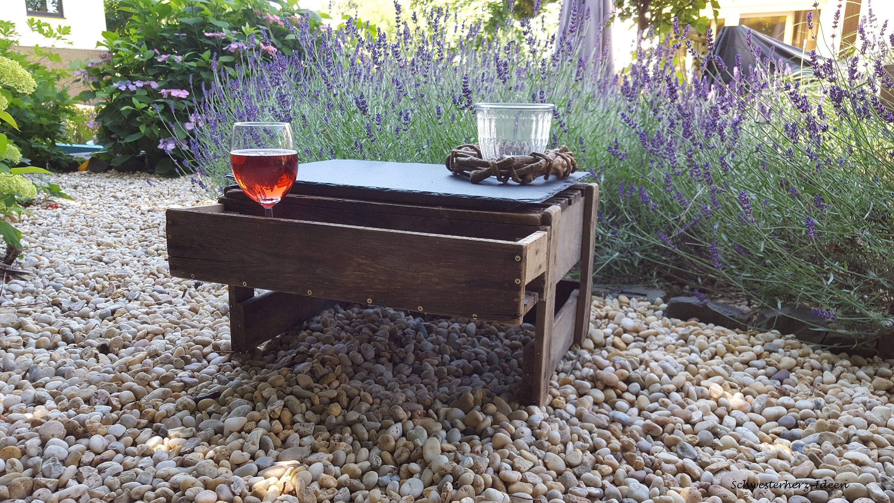 Outdoor Möbel Landhausstil Side Table With Slate Plate