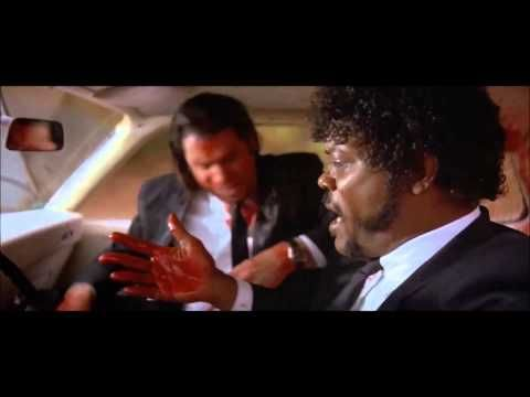 Oh man..... I Shot Marvin In The Face!   Pulp Fiction
