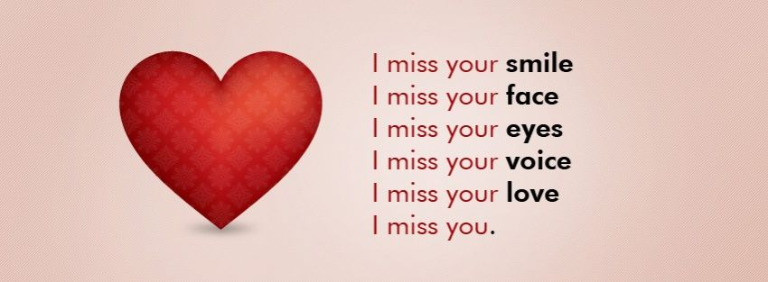 Miss You Fb Cover Photos I Miss Your Smile I Miss You L Miss You