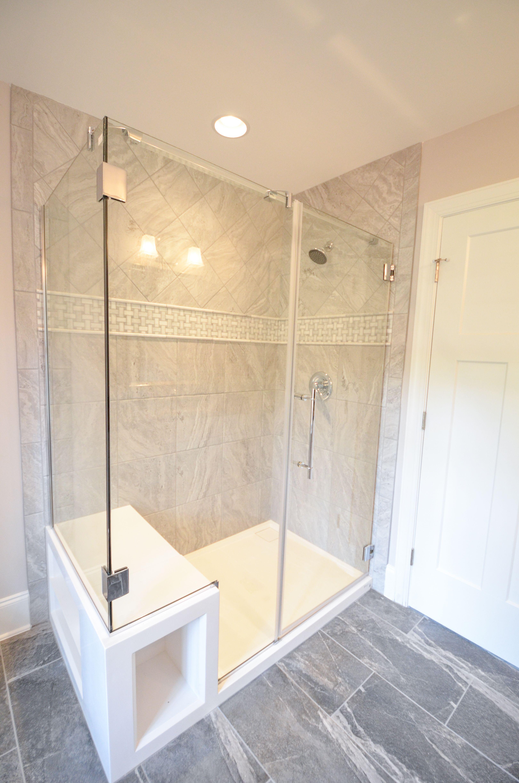 Huge Bathroom Makeover Bathroom Remodel Walk In Shower