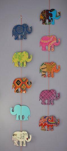 Elefantes trabajos manuales Pinterest Elefantes, Decoración y