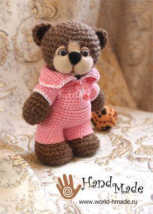 Teddyhäkelnamigurumianleitung Häkeln Pinterest Bears