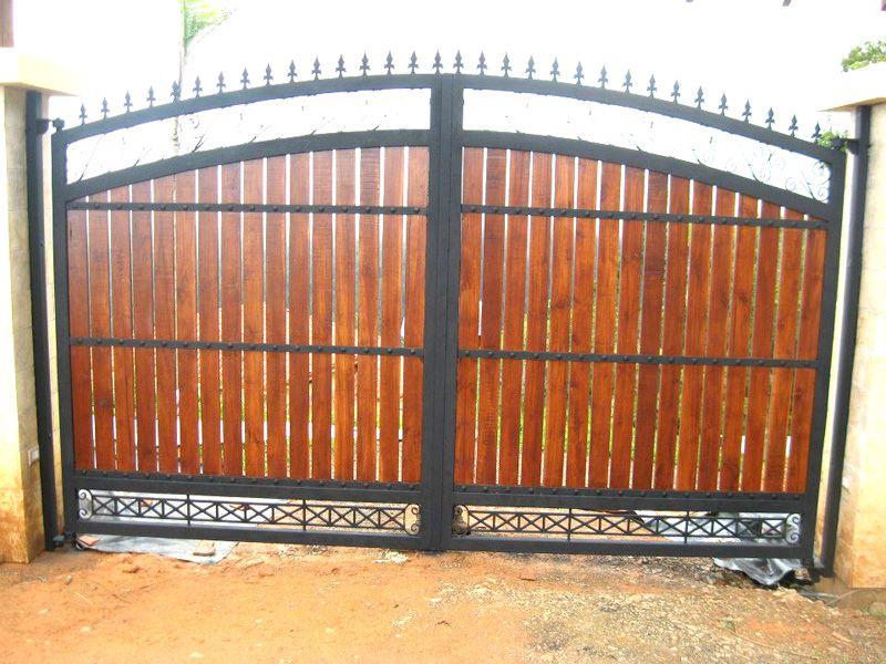 Resultado de imagen para portones de madera e hierro for Portones de hierro para garage