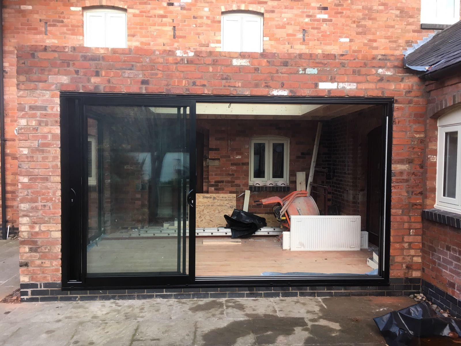 Black Smart Architectural Aluminium Triple Track Sliding Patio - Triple patio door