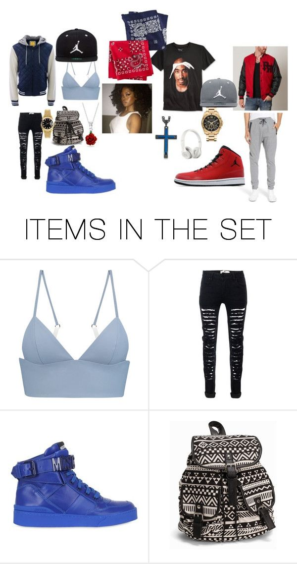 """""""the Crip and the Blood"""" by kelachalisse on Polyvore featuring art"""